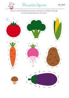 My little dinette: vegetables Food Crafts, Preschool Crafts, Paper Crafts, Montessori Activities, Activities For Kids, Teaching Kids, Kids Learning, Diy For Kids, Crafts For Kids