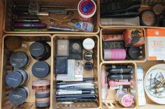 How to organize makeup.