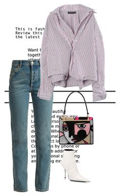 """Untitled #1392"" by marjanne-mestilainen ❤ liked on Polyvore featuring Balenciaga and Prada"