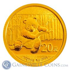 Buy 2014 oz Gold Panda Coin sealed in plastic from Gainesville Coins. Purchase these pure gold Chinese bullion coins securely online Gold Bullion Bars, Bullion Coins, Gold Coins For Sale, Gold And Silver Coins, Coin Collecting, Art Pieces, Cute Animals, Chinese, Pure Products