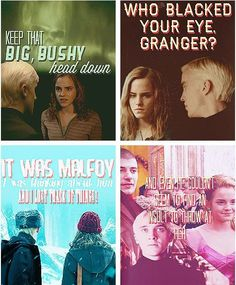 Examples of Dramione in the books! Harry Potter Ships, Harry Potter Jokes, Harry Potter Fandom, Draco And Hermione, Hermione Granger, Tom Felton, Slytherin, Hogwarts, Scorpius Rose