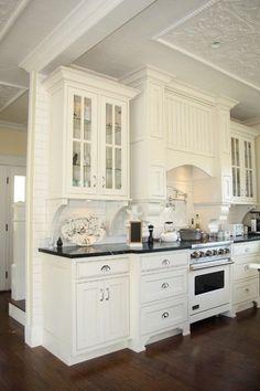 White kitchen design is always a classic design.