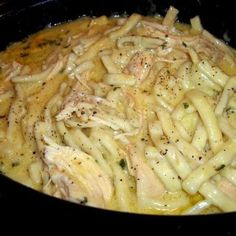 Comforting Chicken & Noodles Crock Pot | FOOD AND COOK