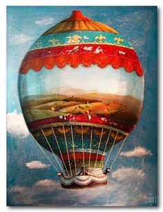 Paintings II / plywood # 4 mm by Robert Romanowicz, via Behance Balloon Rides, Hot Air Balloon, Baby Clip Art, Book Illustration, Balloon Illustration, Art And Architecture, Painting Inspiration, Illustrations Posters, Art Lessons
