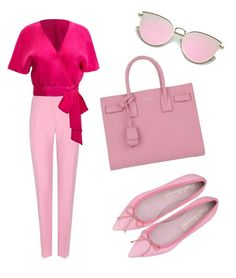 """""""lady pink"""" by katrindrake ❤ liked on Polyvore featuring Valentino and Yves Saint Laurent"""