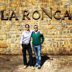 Our great friend Cameron Hughes visiting La Roncaia Winery!