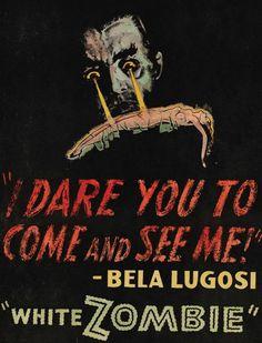Movie poster, White Zombie, Bela Lugosi