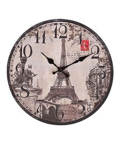 Take a look at this Eiffel Tower Wall Clock by Designs Combined Inc. on #zulily today!