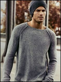 Winter Outfits MEN | 60 Exclusive Mens Winter Fashion Ideas | Fashion *Simple beanie along with simple and generic sweater (both grey/dark grey/medium grey).