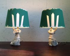 vintage bunny lamps