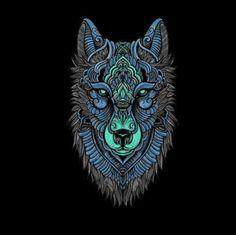ideas geometric art fox wolves for 2019 Norse Tattoo, Viking Tattoos, Fox Tattoo Design, Tribal Wolf Tattoo, Wolf Artwork, Wolf Face, Tattoo Signs, Scary Art, Geometric Art
