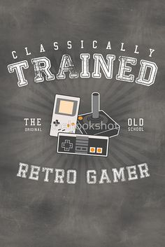 Love this retro gamer shirt. #retro #gamer #classicly #trained #gameboy #nintendo #videogames #game #play #gamer #fashion