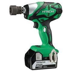 "HITACHI WR18DSDL/JJ 18v Impact wrench 1/2"" Square Drive - 2x5ah Li-ion Batteriess       2 x 5.0Ah Li-ion batteries and charger     Variable / reversing     Max torque: 255Nm     Carry case"