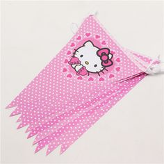 Hot sale10 Flags Baby Birthday Party Flags Pink Paper Banners Bunting Kids Hello Kitty Birthday Party Supplies themes Girls P264 #>=#>=#>=#>=#> Click on the pin to check out discount price, color, size, shipping, etc. Save and like it!