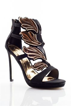 6fbfb440076 Phoenix Flame High Heel Winged Vamp Sandals - Black from Cape Robbin at  Lucky 21 Shoe