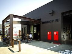 Cafenatics Operations commissioned Zwei interior design and architecture to merge two old, cruddy warehouses into Code…