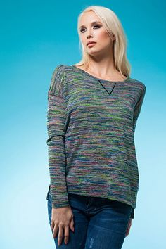 Some space-dyed neon will bring your comfy wardrobe up to date! Spring 2014, Spring Summer, Men Sweater, Comfy, Neon, Pullover, Space, Chic, Sweaters