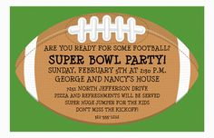 Football Party Invitation from Paper So Pretty
