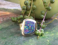 Australian opal ring by TravellingRockShow on Etsy