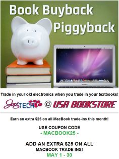 Trade-in your old electronics when you trade-in your old books for Maximum Cash Back at USA BOOKSTORE!