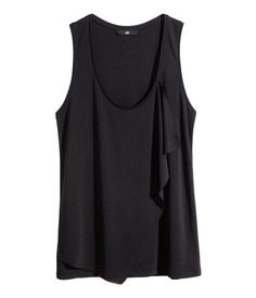 Draped Jersey Top - Black - H&M (Sale $10)