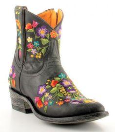 Womens Old Gringo Sora Zipper Boots Black #L871-13 via @Allens Boots