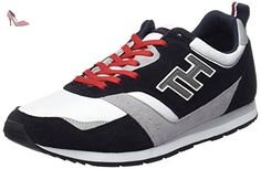 Tommy Hilfiger - A2285Dan 8C - Chaussons Homme, lot de 1 , multicolore (midnight/white/tango red), taille 41 - Chaussures tommy hilfiger (*Partner-Link)