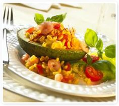 Avocado-Shrimp-Salat mit Sonnenweizen (Ebly)