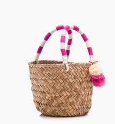 Item No. 1 on your summer packing list, a tasteful tote. Summer Packing Lists, Beach Accessories, Straw Bag, Purses, Mini, Summer Styles, Bags, Totes, Fashion