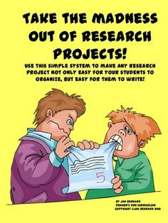 Just the thought of doing a research project is enough to send some students into a permanent state of shock, (and fill teachers with dread!). End the fear with this fun and easy method of organizing and writing research projects. Once I started using this method with my own students, they started doing one research project after another on their own! $