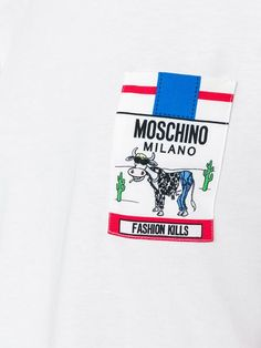 Shop Moschino Fashion Kills T-shirt in Julian Fashion from the world's best independent boutiques at farfetch.com. Shop 400 boutiques at one address.