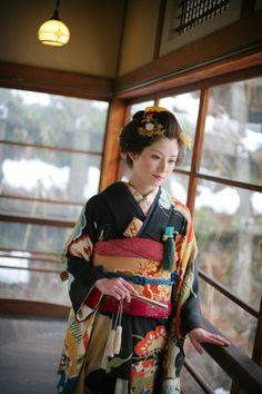 髪結いがはじめた着物屋「縁-enishi-」のブログ Yukata Kimono, Kimono Japan, Kimono Dress, Japanese Kimono, Traditional Fashion, Traditional Dresses, Traditional Kimono, Traditional Japanese, Kabuki Costume
