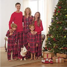 SleepytimePjs Red Plaid Family Matching Christmas Pajamas ...