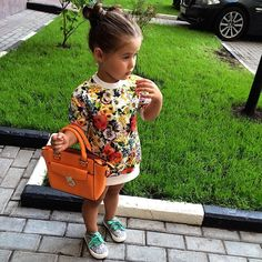 """If only kids stayed clean and enjoyed wearing cool stuff! They will spill juice on that and make you hold the purse and make you take out the hair cuz it's """"hurts""""😔 Little Girl Fashion, Toddler Fashion, Toddler Outfits, Kids Outfits, Kids Fashion, Kid Swag, Baby Swag, Kids Girls, Little Girls"""