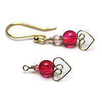 Valentine Earrings Tutorial - #Wire #Jewelry #Tutorial