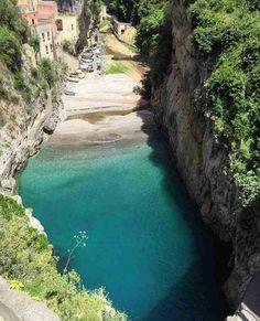 Fiordo di Furori, Costa Amalfitana, Itália.