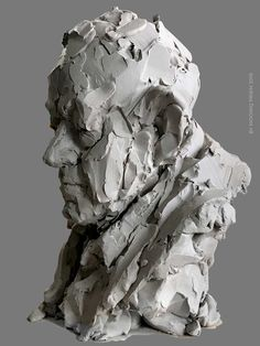 Portret Aad Human Sculpture, Sculpture Head, Plaster Sculpture, Sculptures Céramiques, Sculpture Portrait, Abstract Art Images, Anatomy Sculpture, Contemporary Sculpture, Art Studios