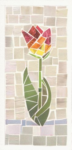 Mosaic Tulip by ~zippip on deviantART - I like the simplicity