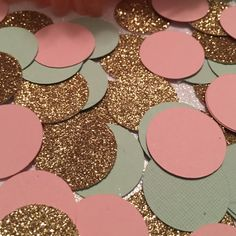 Pink Gold Mint Confetti, First Birthday Decoration, Confetti, Baby Sprinkle, 1st Birthday Decoration, Baby Shower, Wedding, Bridal, Birthday by ShimmerMyParty on Etsy