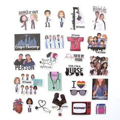 Grey's Anatomy Wallpaper Iphone, Cute Emoji Wallpaper, Grey's Anatomy Doctors, Greys Anatomy Characters, Dance It Out, Collage Design, Create Words, Star Stickers, Waterproof Stickers