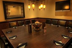 Our private dining room which seats up to 18-20 guests.