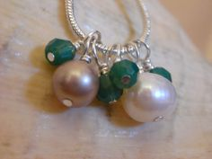 Wire Wrapped Swarovski Crystal and Glass Pearl by ThatGirlsDesigns, $10.00