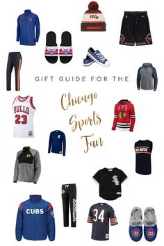 A gift guide for Chicago Sports fans, whether you are obsessed with the Blackhawks, Bulls, Cubs, Bears.or even the White Sox. Navy Gear, Nhl Shop, Brindille, Heavy Jacket, Nba Store, T Dress, Experience Gifts, Chicago White Sox, Inspirational Gifts