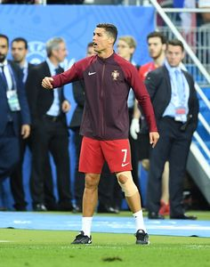 #EURO2016 Portugal's Cristiano Ronaldo is seen during the Euro 2016 final football match between Portugal and France at the Stade de France in SaintDenis north...
