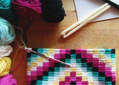 Making a Tapestry Granny Square Bag. New Tapestry Crochet Pattern on the way!  Stay tuned!