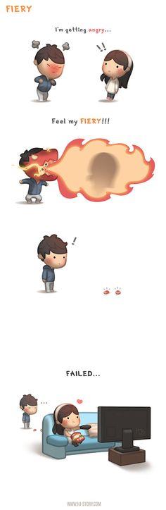 Estou ficando com raiva... me sinta ardendo...