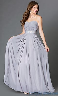 Long Sweetheart Corset-Back Prom Gown