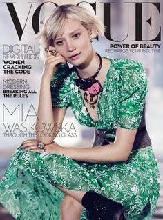 Mia Wasikowska by Nicole Bentley Vogue Australia July 2016