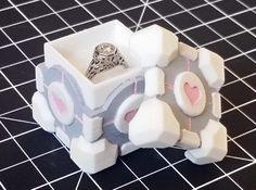 Companion Cube Box (1.5 inch / 37 mm) 3d printed