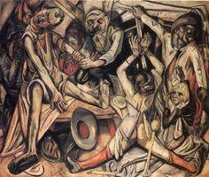 Max Beckmann - Night - 1918 - New Objectivity - German Expressionism